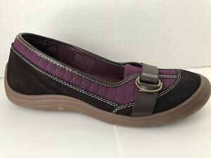 Lands-End-Shoes-Womens-Size-8-M-Black-Purple-Loafer-Slip-On-8M-Driving-Mocassin