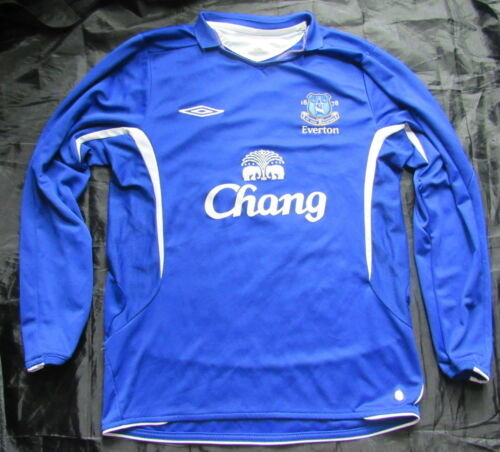 EVERTON FC home LONG SLEEVE shirt jersey UMBRO 20082009 The Toffees men SIZE M