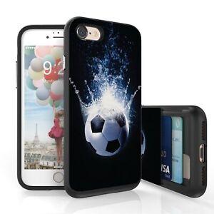 Details about For iPhone 7 / 8 Hidden Card Slide Slot Slim Case Soccer  Splash