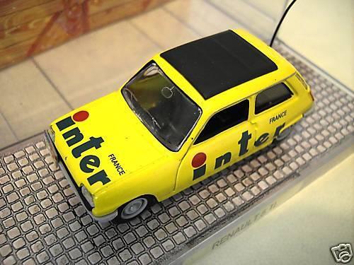 RENAULT 5 TL FRANCE INTER amarillo 1 43 d Norev 510500 voiture miniature collection