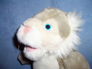 DISNEY-12-034-plush-gray-lion-WILDCAT-2006-High-School-Musical-MINT-CLEAN-grey-bean