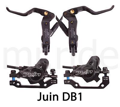 JUIN DB1 Mountain Bike Hydraulic Disc Brake Set W// Rotor 160mm*2 Gray