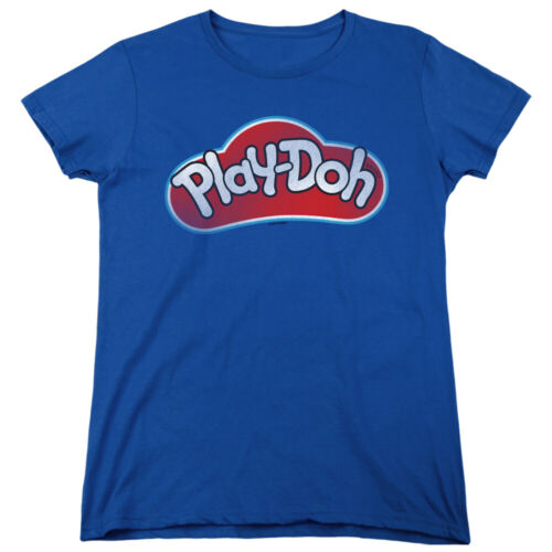 Play Doh Womens T-Shirt Vintage Logo Royal Tee