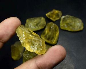 100% Natural Wholesale Lemon Quartz Rough Gemstone Crystal Lot 352Crt S-3024