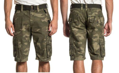 Affliction Homme négocier Short Cargo Twill Short Camo Pantalon Multi Poche