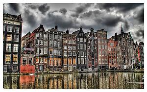 Quadro moderno AMSTERDAM 100x60 olanda arredo casa soggiorno viaggio ...