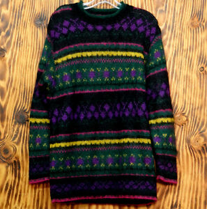 United-Colors-of-Benetton-Sweater-Mohair-Sweater-Multi-Color-Stripes