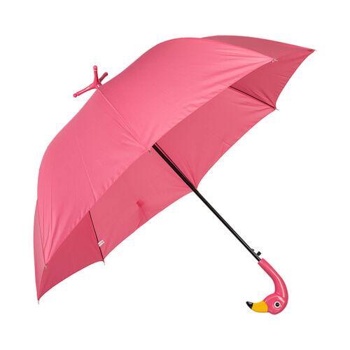 Donna Rosa Flamingo non associate OMBRELLO manico curvo apertura manuale Ombrello