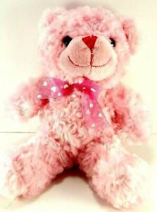 Valentine-Pink-Bow-Heart-Teddy-Bear-Plush-Stuffed-Animal-Dan-Dee-10-034-Soft