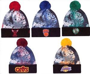 56a09c5c880 New Era NBA Paint Splatter Knit Winter Beanie Skully Cuffed Pom ...