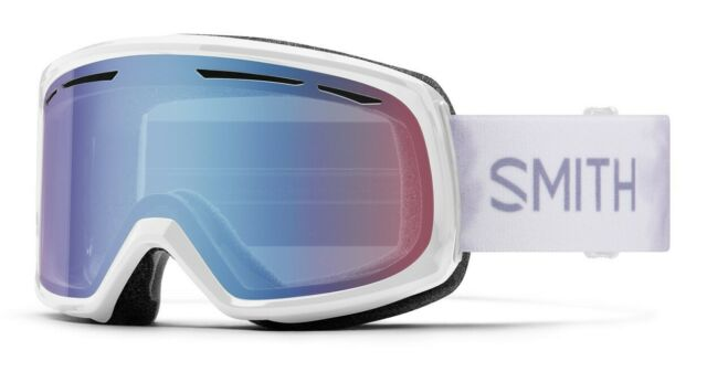 Smith Drift Ski / Snow Goggles White Florals, Blue Sensor Mirror Lens New 2021