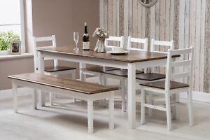 Image Is Loading Solid Pine Wood Dining Set Table And Chairs