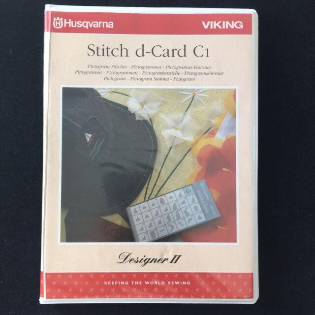 Husqvarna Viking 2 Stitch d-Card O1 Block Alphabet Letter Stitches
