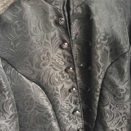 Mens Gothic Brocade Jacket Retro Frock Coat Steampunk Vintage Victorian Coat