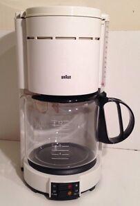 Original Braun Coffee Maker : Vintage White Braun 4077F Aromaster 12 Cup Drip Coffee Maker KF eBay