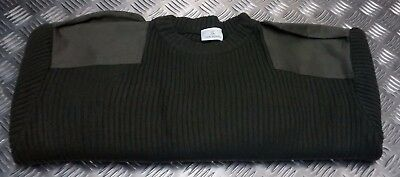 Army Style Commando Pullover Jumper Sweater Crew Neck Warm All Sizes / Cols New