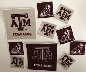 Texas-A-amp-M-Iron-On-fabric-appliques-Sports
