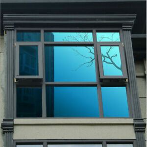 76cm Silver/Blue specchio Isolamento Pellicola Finestre Film Stickers vetri