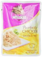Whiskas Purrfectly Chicken In Natural Juices Food For Cats, 3-ounce Pouches (pac on sale