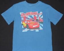 Cars Lightning McQueen Disney T-shirt Blue Sz 8