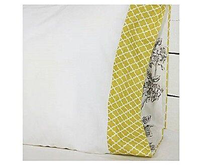 HAPPY FRIDAY 50x80 cm Kopfkissen Kissenbezug  weiß oliv Edles Muster ♠