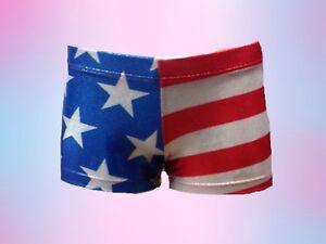 Patriotic gymnastics shorts