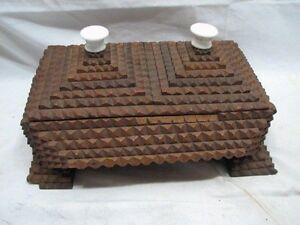 Early-Wooden-Tramp-Art-Trinket-Dresser-Box-Chip-Carved-Wood-Cigar-Americana