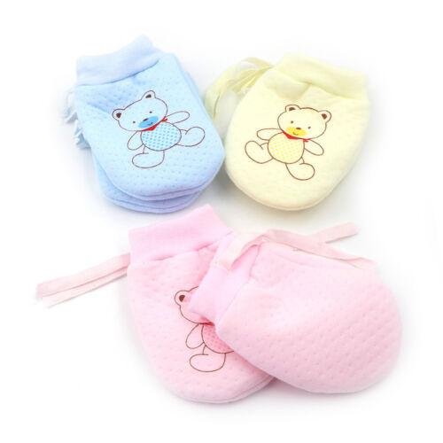 Baby Infant Boys Girls Anti Scratching Mittens Soft Newborn Baby Gloves JDUK