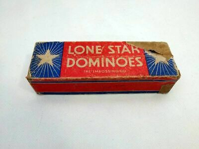 Antikes Dominospiel Domino Embossing Albany N.y. Lone Star Usa
