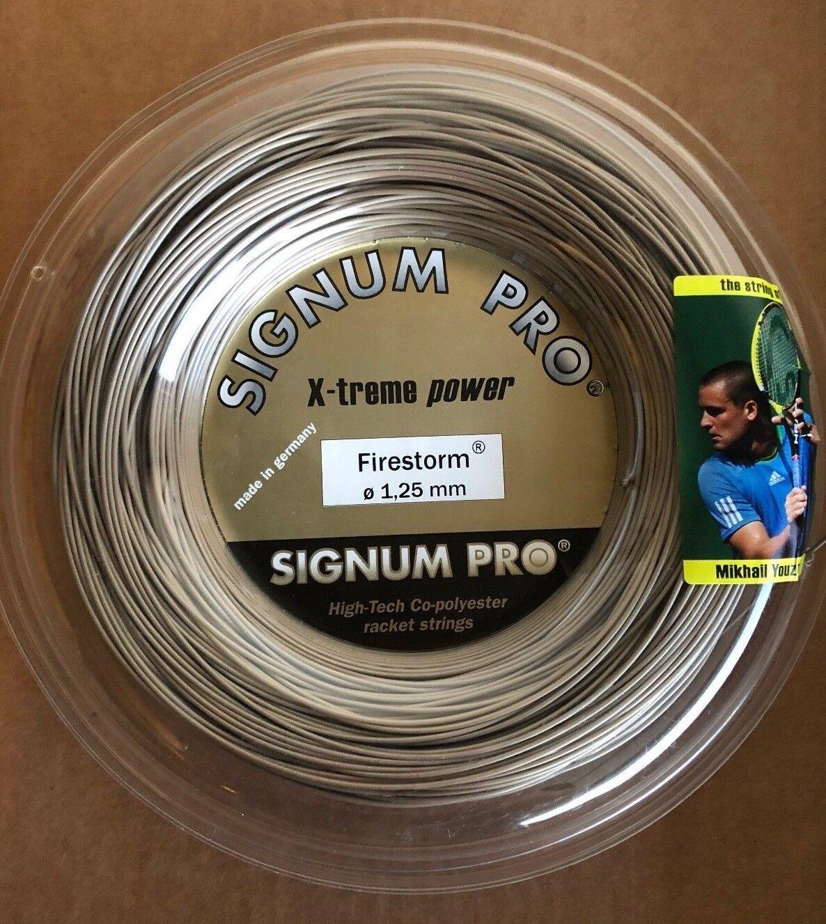 Signum Pro Firestorm 1.25mm (660ft) - Premium Co-Poly Tennis string