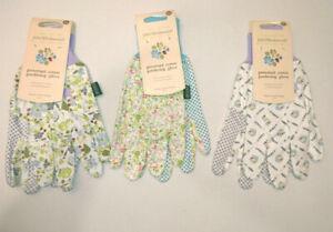 Femmes-Coton-Jardinage-Gants-Medium-Briers-Julie-Dodsworth-bleu-lilas-Grip-Dot