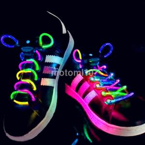 Image Is Loading 1 Pair LED Shoelaces Flash Light Up Glow