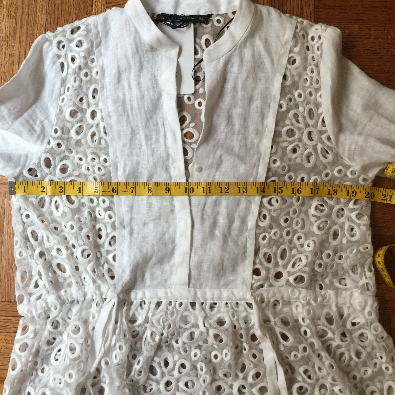 c9f665c8e4 Zara White Eyelet Dress Beach Cover Up NWT! SOLD OUT!! | eBay