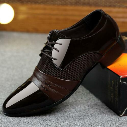 Mens Oxford Leather Shoes Formal Dress Shoes Party Pointy Toe Loafers Casual