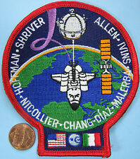 NASA PATCH vtg Space Shuttle Mission ITALY USA Ivins Chang-Diaz Malerba Shriver