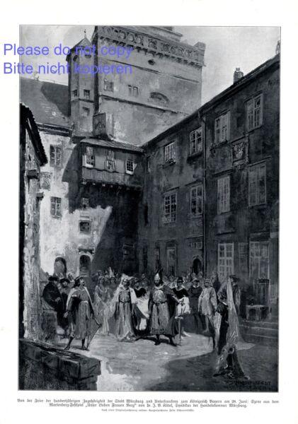 100 Jahre Würzburg Zu Bayern Xl Druck 1914 Unterfranken Marienberg Festspiel - Moderater Preis
