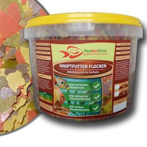 Hauptfutter-Flocken-10L-Eimer-1-6-kg-Fischfutter-Futter-Zierfische-Aquarium