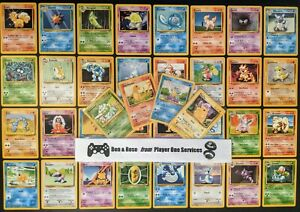 BASE-SET-RANDOM-POKEMON-CARD-LOT-Pokemon-Original-FIRST-EVER-Set-1999-WOTC