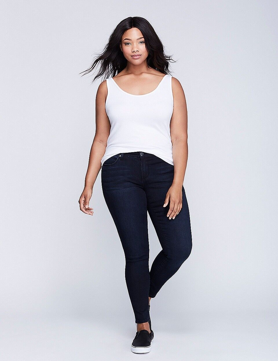 Seven 7 Melissa McCarthy Dark SKINNY Denim Leggings Jeans PLUS Sz 16 Lane Bryant