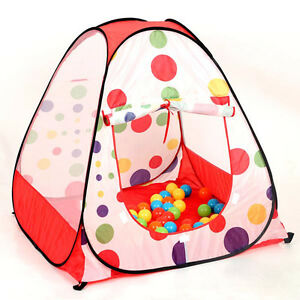 Image is loading POP-UP-CHILDREN-KIDS-BABY-PLAY-TENT-PLAYHOUSE-  sc 1 st  eBay & POP UP CHILDREN KIDS BABY PLAY TENT PLAYHOUSE SPOTTY INDOOR OUTDOOR ...