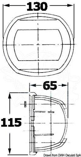 Osculati Maxi 20 Stainless Steel 112.5 Degrees Left Red Navigation Light 12V