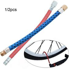 2PCS Bicycle Pump Extension Hose Inflator Tube Pipe Cord 150psi schrader ValvFEH