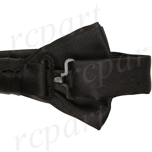 New formal Men/'s micro fiber Pre-tied Bow Tie /& Hankie black purple paisley
