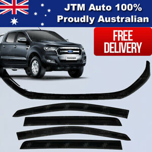 Bonnet-Protector-Window-Visors-Weather-shields-to-suit-Ford-Ranger-2015-2018