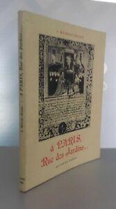 A París Calle Las Jardines S.Moreau-Rendu Alsatia París 1954 Pin Demuestra