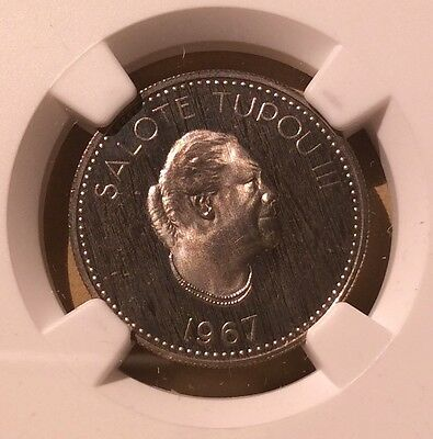Coins & Paper Money Lower Price with Tonga 10 Seniti 1967 Ngc Pf 65 Cameo South Pacific