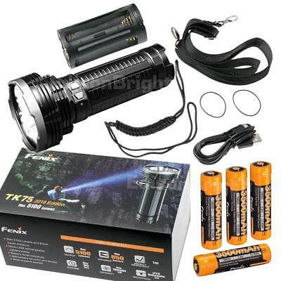 Fenix TK75 2018 5100 Lumen Flashlight w// 4x 2600mAh 18650 Rechargeable Batteries