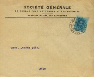 Espana-Alfonso-Xiii-Busta-319-1922-40-Cts-Azul-Barcellona-a-Basilea-Swiss