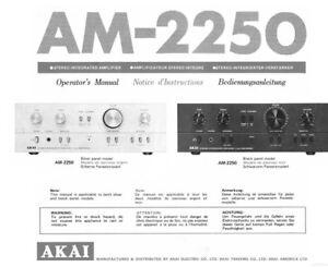 akai am 2250 amplifier owners instruction manual ebay rh ebay com akai tv service manual akai tv service manual