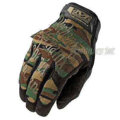 MECHANIX WEAR ORIGINAL MILITARY TACTICAL GLOVES HUNTING SHOOTING WOODLAND CAMO